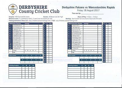 2017 Derbyshire v Worcestershire T20
