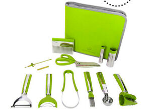 Brand New- Wolfgang Puck New & Improved 12-Piece Garnishing Set