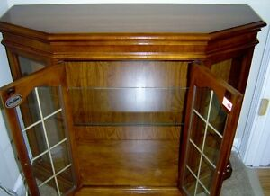 ANTIQUE HALL CABINET WITH MATCHING MIRROR London Ontario image 2