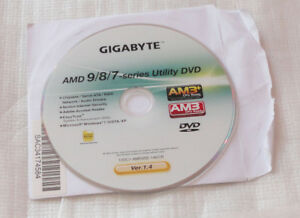 computer part software DVD AMD 9/8/7 SERIES UTILITY DISK