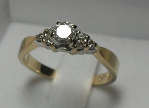 14k gold Diamond Engagement Ring/Size 6.75 (Reduced in Price)