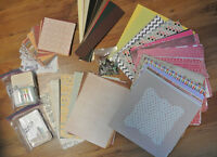 Scrapbooking/Cardmaking Lot of Paper & Brads