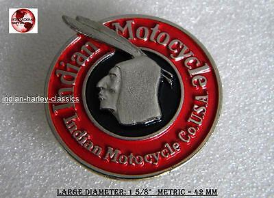 EARLY INDIAN MOTORCYCLE VEST PIN RED & BLACK FITS FOR CHIEF & SCOUT RIDER FOUR, used for sale  USA