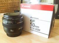 Canon EF 50mm f/1.4 USM - EXCELLENTE CONDITION!!!