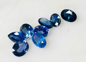5ct Lot Natural Blue Sapphires