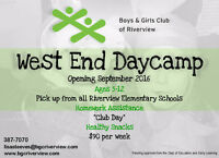 Riverview West End Daycamp - Opening soon