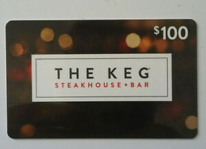"Gift Card -- $100.00""THE KEG STEAKHOUSE + BAR"""