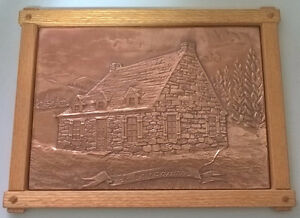 Vintage Rustic Copper Landscape Art Embossed Copper Wall Decor