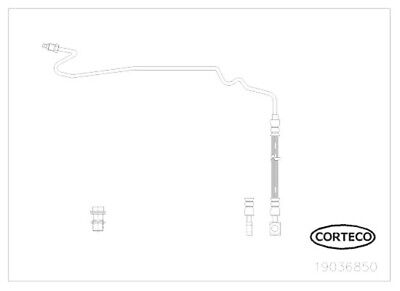CORTECO Bremsschlauch Bremsleitung Hinten rechts 19036850