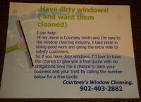 Courtney's Window Cleaning.