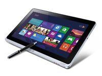 acer w700 tablet windows 10 usb3 4gb ram i3 64gb sdd 1080p hd