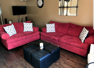 Red Sofa Set/Couch