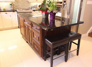 maple solid wood kitchen island cabinets on Discount!!