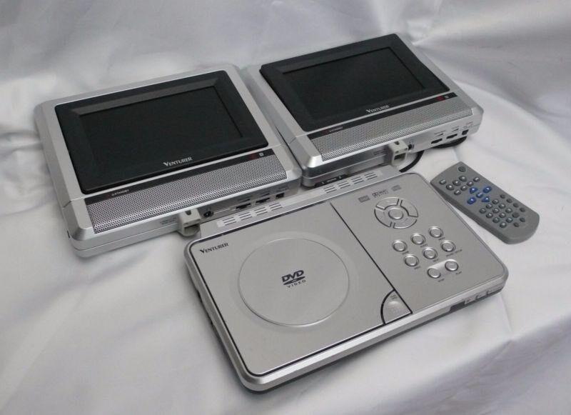 venturer pvs1961 in car dual screen portable dvd player. Black Bedroom Furniture Sets. Home Design Ideas