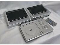 VENTURER PVS1961 IN CAR DUAL SCREEN PORTABLE DVD PLAYER Camper Caravan DC 12V