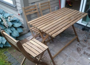 Outdoor Dining set - table and 3 chairs