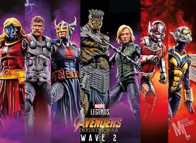 Marvel Legends Avengers Infinity War Wave 2 Baf Cull Obsidian Set Pre Order
