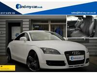 2009 59 Audi TT Coupe 2.0 TDI Quattro White with Black Leather & Suede