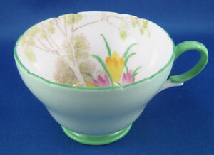 Rare Antique Shelley China Crocus Pattern Cup 13254 London Ontario image 1