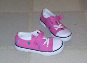 Girl pink Ralf Lauren Polo shoes size 10.