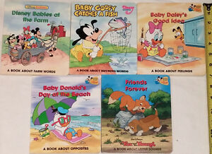 Qty 5 Disney Babies BOARD Books (Lot # 1)