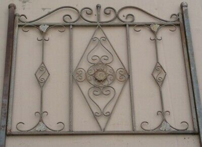 Wrought Iron Fence Rankzaun Vitoria-Z 100 CM Roh-Rostig