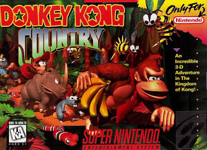 Jeu Super Nintendo Donkey Kong Country (Complet)