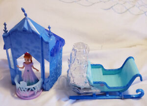 Disney Frozen Small Anna castle with Sled - $15
