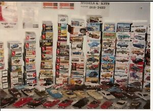 Vintage model cars and model car kits