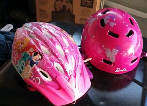 Disney and Barbie girls helmet