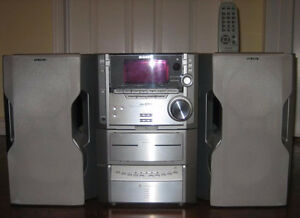 Sony MHC-ZX10 Stereo with 5 CD Changer and Dual Cassete Player