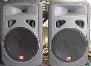JBL Eon G1 powered speakers, sub and mixer
