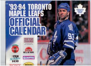 Toronto Maple Leafs 93-94 Official Calendar Doug Gilmour Cover