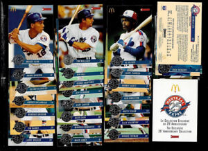 1993 McDONALD'S  MONTREAL EXPOS 25th Anniversary Full Card SET