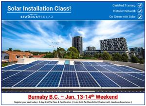 Stardust Solar Installation Class in Burnaby B.C.