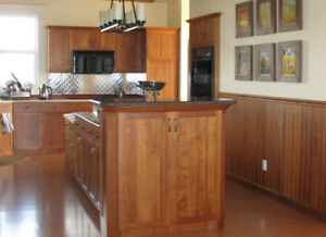Like New Cherry Stained Kitchen Cabinets for Sale