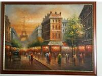 lovely oil painting of Paris
