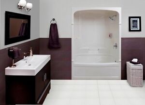 Empire 60 Inch 3-piece Acrylic Tub And Shower-Right Hand