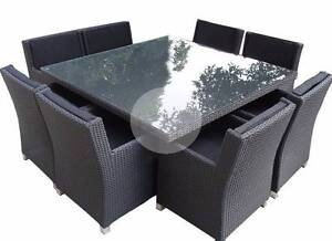 Outdoor furniture Dining  Large Square 8 Seater   Rattan Wicker Nerang Gold Coast West Preview