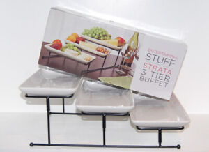 Strata 3-Tier Buffet Stand for Appetizers Desserts - Like NEW