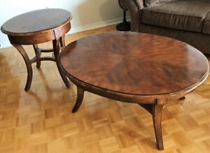 Beautiful Distressed Wood Coffee and End Table