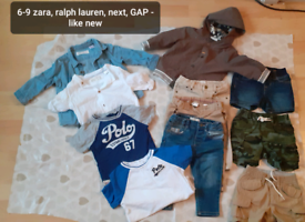 6-9 boys bundle. Zara. Ralph Lauren. Next. 6-12 GAP