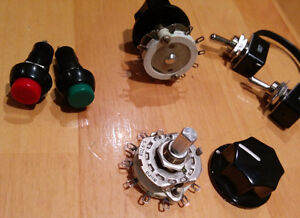 SPST switches, rotary selector knobs, momentary push buttons Kitchener / Waterloo Kitchener Area image 2
