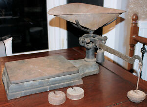 Vintage Combination Produce/Platform Scale with Weights