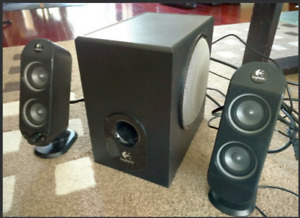 Logitech 30 Watt 3-Piece Amplified Speaker System. MINT!