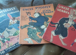Three Vintage Uncle Wiggily Books. 1943