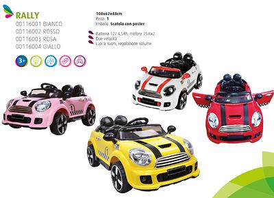 Auto Macchina Elettrica Coupè Rally 12v con radiocomando cavalcabile per bambini