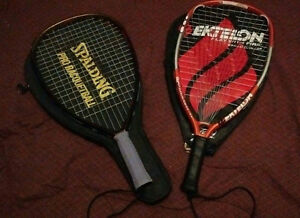 2 raquetball rackets with cases
