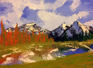 Bow Valley, Fall; original mountain landscape painting