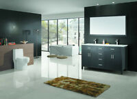 ⎷⎛Contemporary Bathroom Vanity & Cabinet Urban Flare UF60D